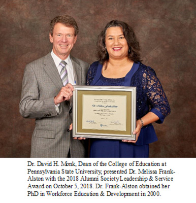 Dr. David H. Monk and Dr. Melissa Frank-Alston