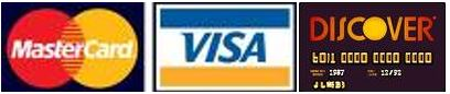 Accepted Credit Card Logos, Visa, Mastercard, Discover