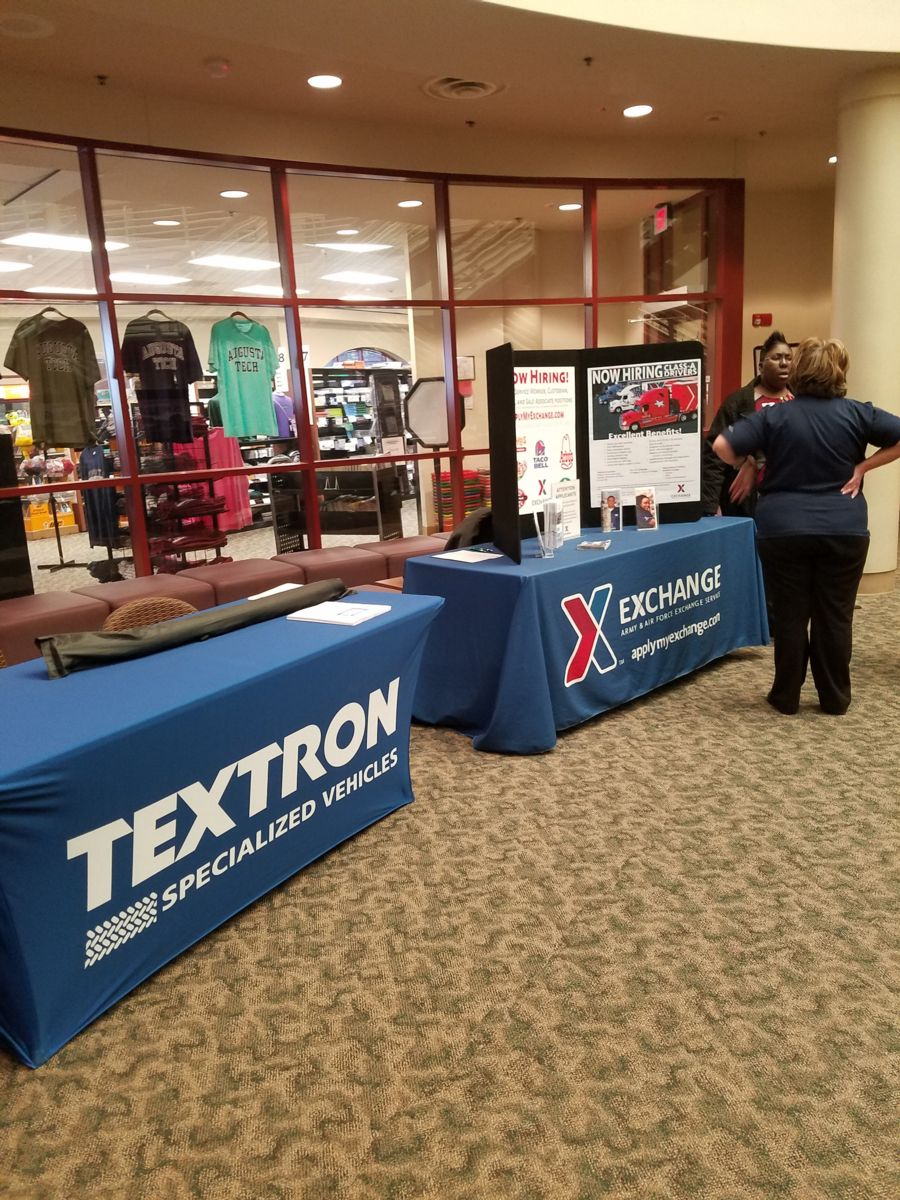 Textron and Exchange at the Augusta Technical College Career Fair 2018