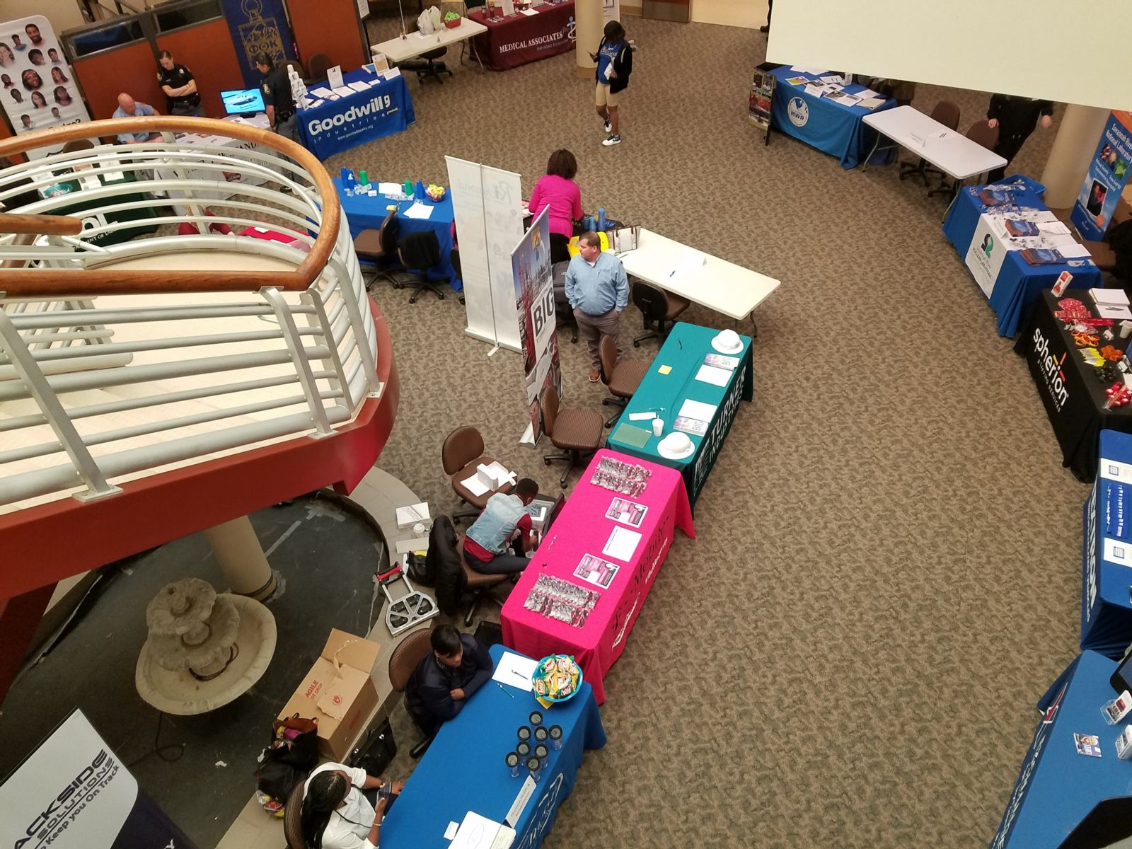 A view from above the Augusta Technical College Career Fair 2018